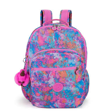 "Seoul Go Large Printed Laptop 15"" Backpack - Fierce Prisms"
