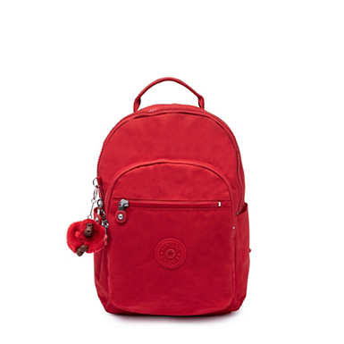 Seoul Go Small Backpack - Cherry Tonal Zipper
