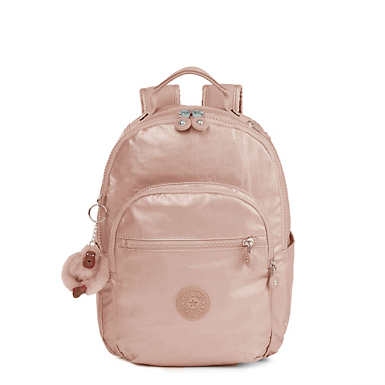 Seoul Go Small Metallic Backpack - Rose Gold Metallic