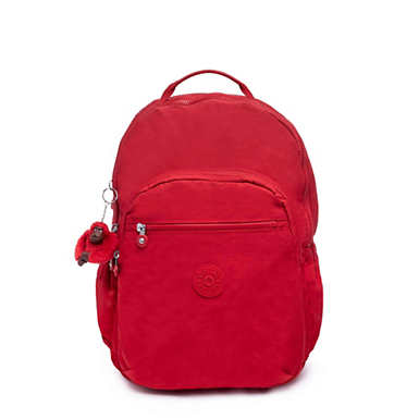 Seoul Go Extra Large Laptop Backpack - Cherry Tonal Zipper