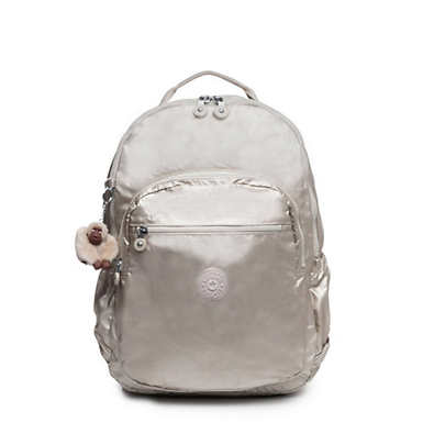 "Seoul Go Extra Large Metallic  17"" Laptop Backpack - Cloud Metallic"