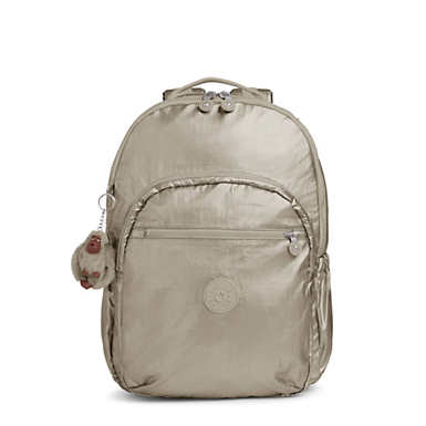 Seoul Go Extra Large Metallic  Laptop Backpack - Metallic Pewter
