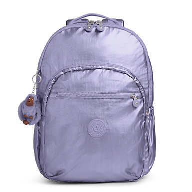 Seoul Go Extra Large Metallic  Laptop Backpack - Metallic Mist Purple
