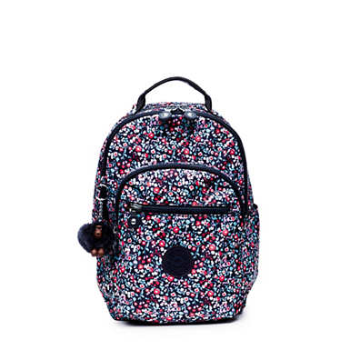 Seoul Go Small Printed Backpack - Glistening Poppy  Blue