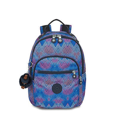 Seoul Go Small Printed Backpack - Zesty Lines