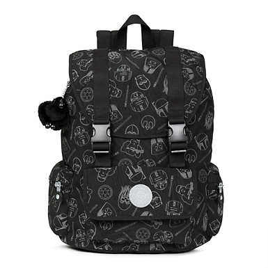 Star Wars Siggy Printed Large Reflective Laptop Backpack - Galaxy Far Far Away