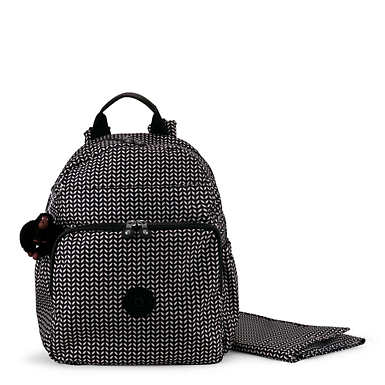 Maisie Printed Diaper Bag Backpack - Small Leaf