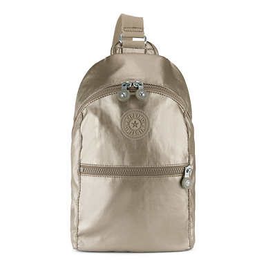 Bente Metallic Backpack - Metallic Pewter