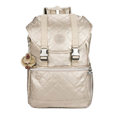 "Experience 15"" Metallic Laptop Backpack - Toasty Gold Embossed"