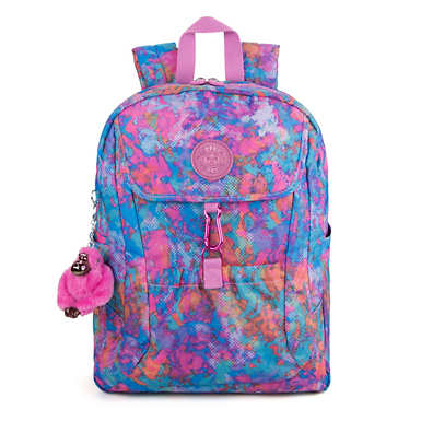 "Kumi 15"" Large Printed Laptop Backpack - Fierce Prisms"