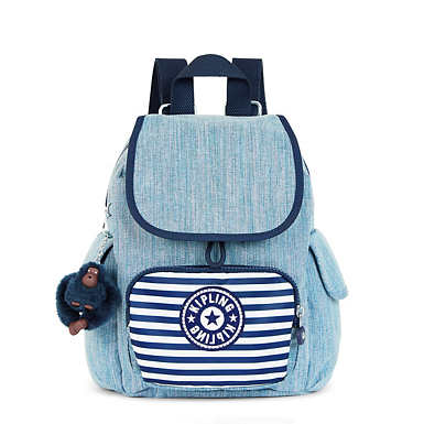 City Pack Extra Small Backpack - Indigo Blue Stripe