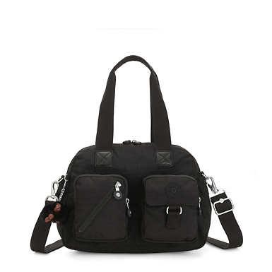 Defea Handbag - Black Tonal Zipper