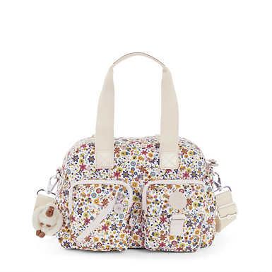 Defea Printed Handbag - Chatty Daisies