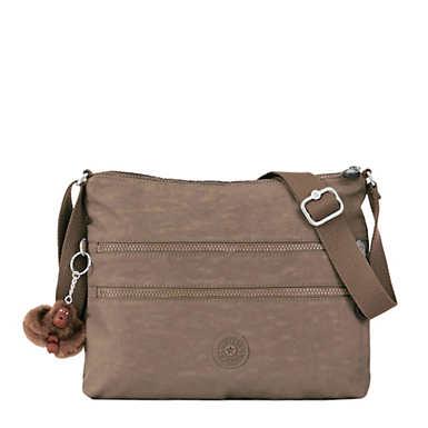 Alvar Crossbody Bag - Soft Earthy Beige Tonal Zipper