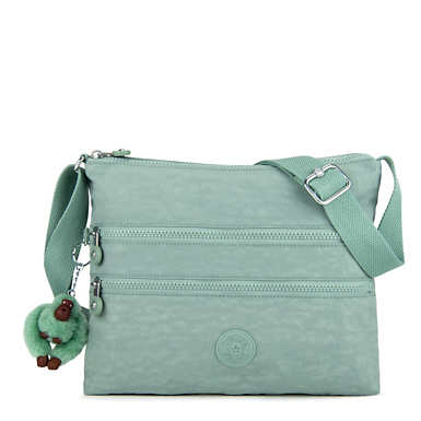 Alvar Crossbody Bag - Fern Green Tonal Zipper