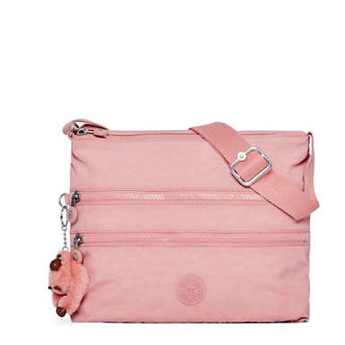Alvar Crossbody Bag - Strawberry Pink Tonal Zipper
