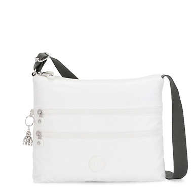 Alvar Metallic Crossbody Bag - White Metallic