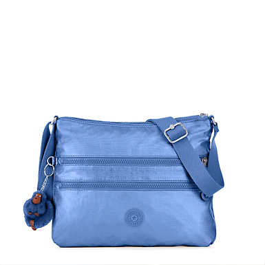 Alvar Metallic Crossbody Bag - Metallic Scuba Diver Blue