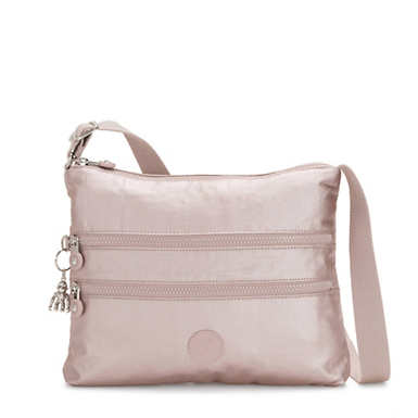 Alvar Metallic Crossbody Bag - Metallic Rose