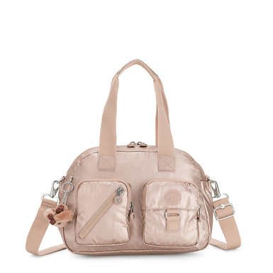 Defea Metallic Handbag - Quartz Metallic