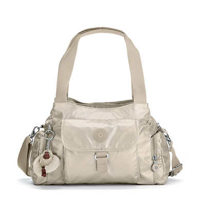 Felix Large Metallic Handbag - Gleaming Gold