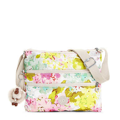 Alvar Printed Crossbody Bag - Luscious Florals White