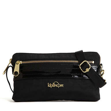 Iani Crossbody Bag - Black Patent Combo