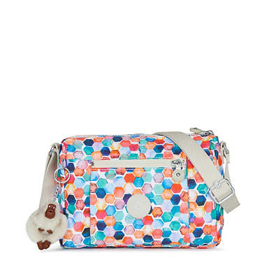 Wes Printed Crossbody Bag - Gilded Marbles