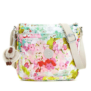 Sebastian Printed Crossbody Bag - Luscious Florals White