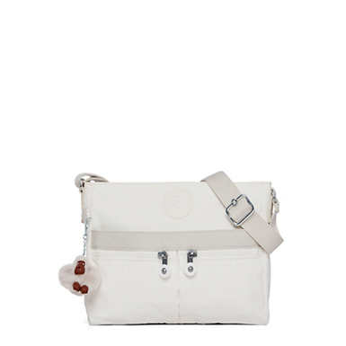Angie Handbag - Alabaster Tonal Zipper