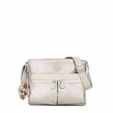 Angie Metallic Handbag - Cloud Grey Metallic