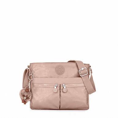 Angie Metallic Handbag - Rose Gold Metallic