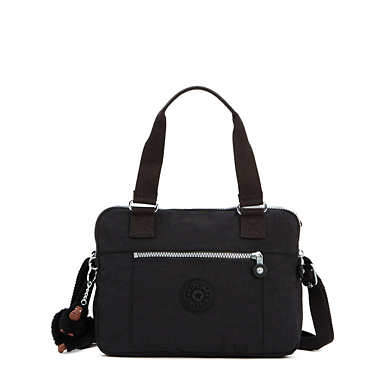 Brent Double Compartment Handbag - Black