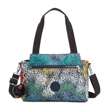 Elysia Printed Handbag - Watercolor River
