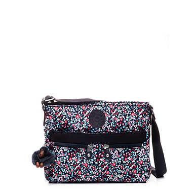 Angie Printed Handbag - Glistening Poppy  Blue