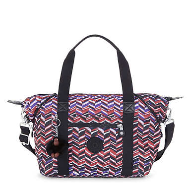 Art S Printed Handbag - Dashing Stripes