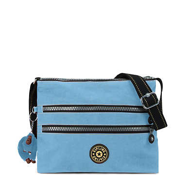Alvar Vintage Crossbody Bag - Blue Grey