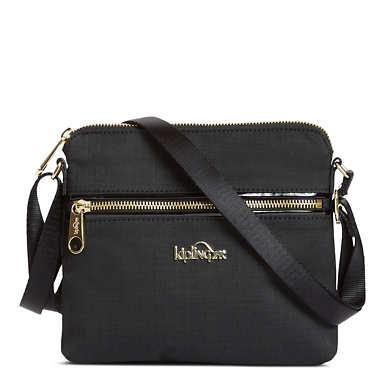 Foxwell Crossbody Bag - Black Crosshatch