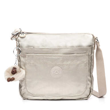 Sebastian Metallic Crossbody Bag - Cloud Grey Metallic