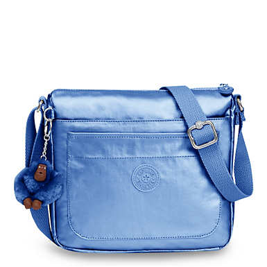 Sebastian Metallic Crossbody Bag - Metallic Scuba Diver Blue