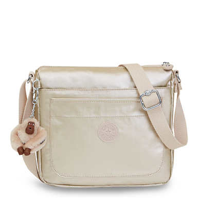 Sebastian Metallic Crossbody Bag - undefined