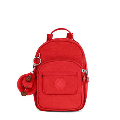 Alber 3-in-1 Convertible Mini Bag Backpack - Cherry Tonal Zipper