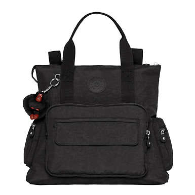Alvy 2-in-1 Convertible Tote Bag Backpack - Black