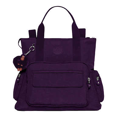 Alvy 2-in-1 Convertible Tote Bag Backpack - Deep Purple