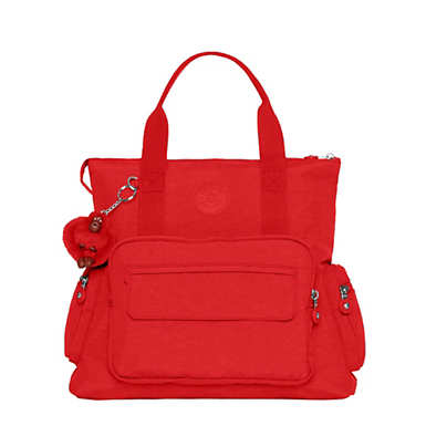 Alvy 2-in-1 Convertible Tote Bag Backpack - Cherry Tonal Zipper