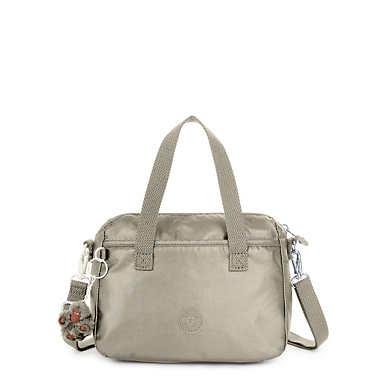 Emoli Metallic Handbag - Metallic Pewter