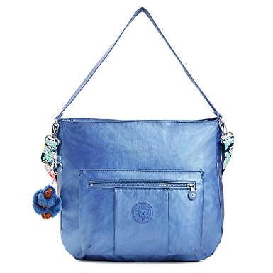 Carley Metallic Handbag - Metallic Scuba Diver Blue