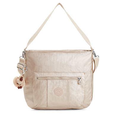 Carley Metallic Handbag - Sparkly Gold