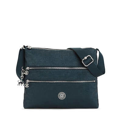 Alvar Metallic Crossbody Bag - Blended Blue Metallic