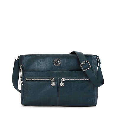 Angie Metallic Handbag - Blended Blue Metallic